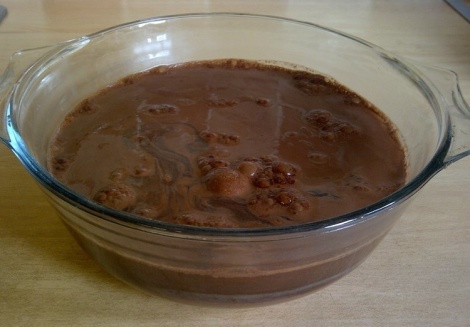 Choc pud before going into oven