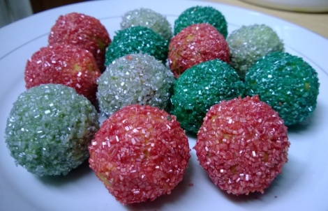 Christmas bauble cake pops