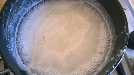 Milk and sugar boiling