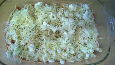 Pasta dish uncooked