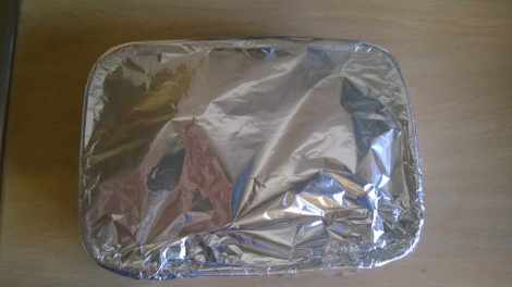peppers covered in foil