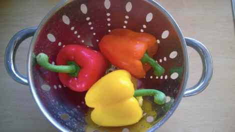 Washed peppers