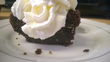 Choc cake with cream