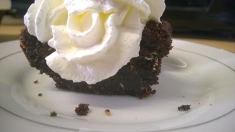 Choc cake with cream