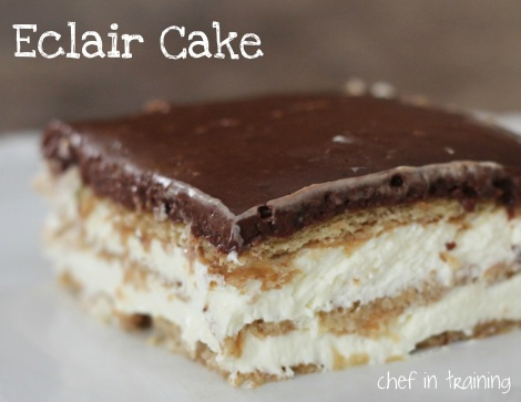 Eclair cake from chef