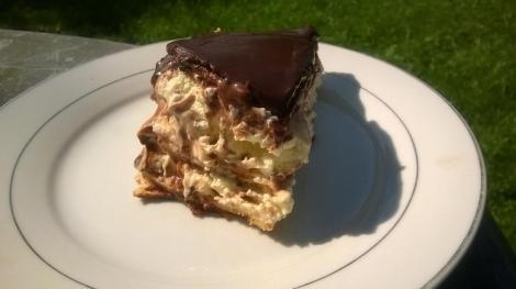 Eclair cake slice
