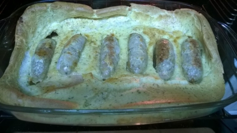 Toad in the hole cooked