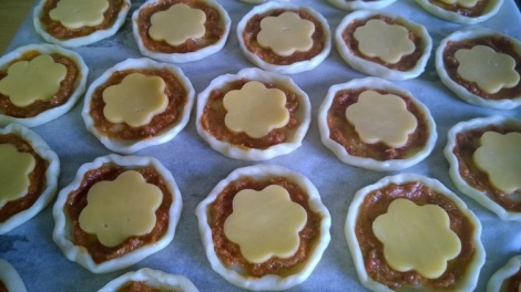 Tarts at the cheese stage