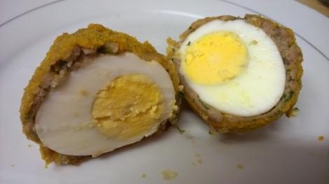 Scotch egg cut