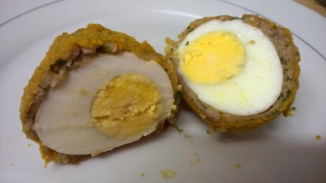 Scotch egg cut