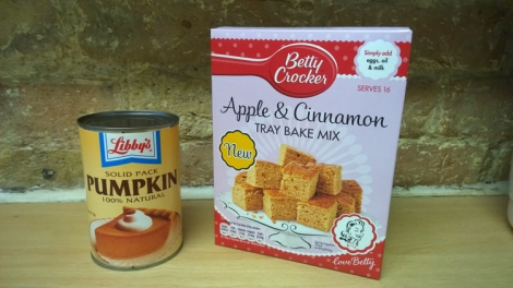 Cake mix and pumpkin