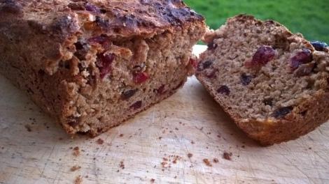 Cranberry and orange tea bread