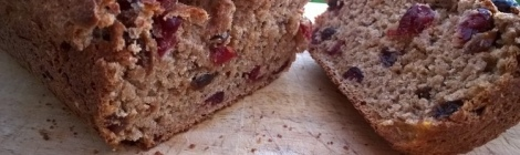 Cranberry and orange tea bread