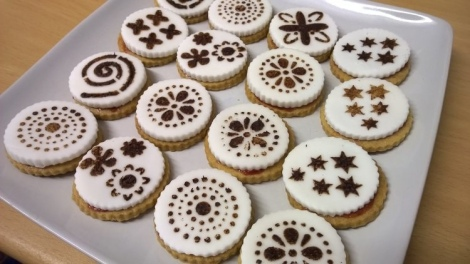 Stencilled top shortbread