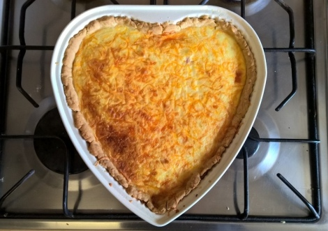 Heart shaped quiche