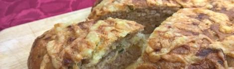 Potato leek and cheese bread