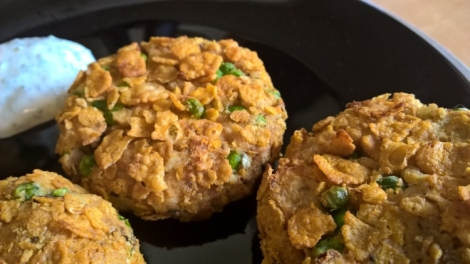Corn flake fish cakes