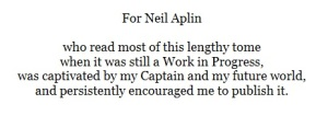 Neil Aplin book dedication