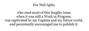 Neil Aplin book dedication