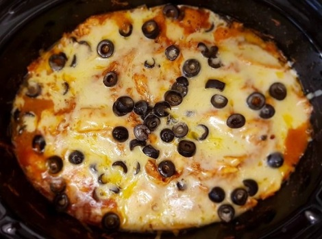 Enchilada casserole in slow cooker